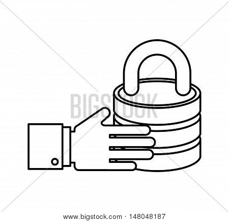 business security concept flat icons vector illustration design
