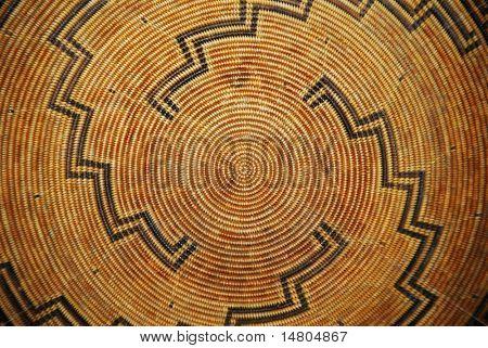 Ein indianischer geflochtenen Korb-Muster