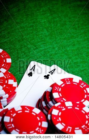Pocket Aces, a great poker opening
