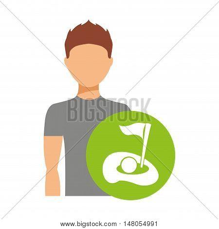 avatar person athlete icon vector illustration design
