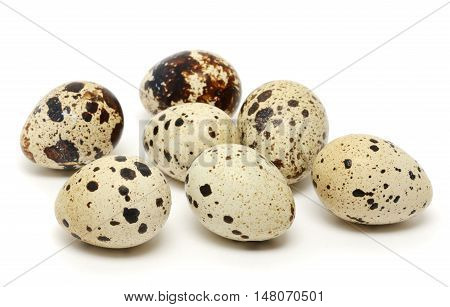 Quail egg isolated on the white background
