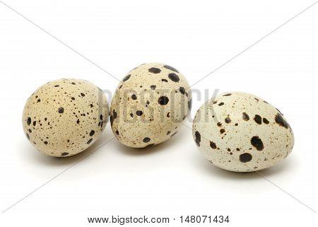 Quail egg isolated on the white background