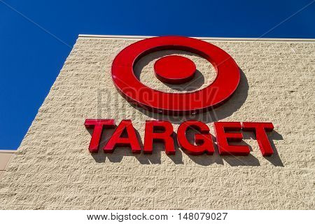 Ft. Wayne - Circa September 2016: Target Retail Store. Target Sells Home Goods Clothing and Electronics VII