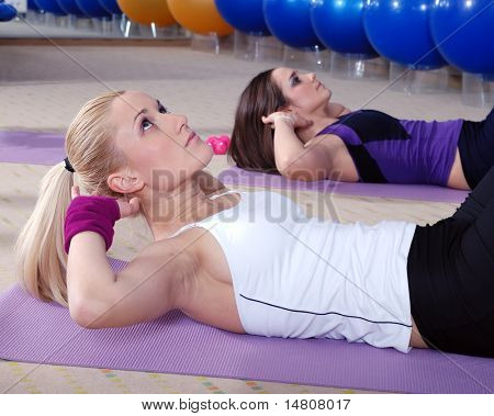 healthy woman exercise in fitness center