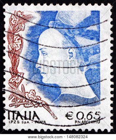 ITALY - CIRCA 2004: a stamp printed in the Italy shows Princess of Trebizonde by Antonio Pisano circa 2004