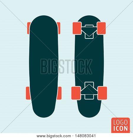 Skateboard deck icon. Equipment for the activity of skateboarding. Vector illustration