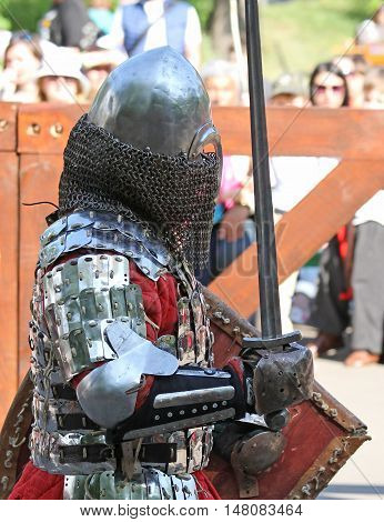 The Medieval Knight During Battle