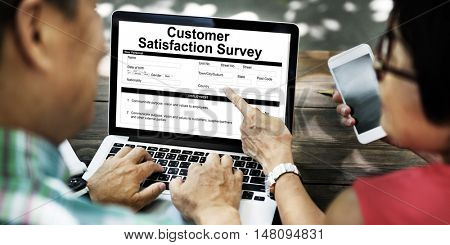 Customer Satisfaction Survey Client Service Concept poster