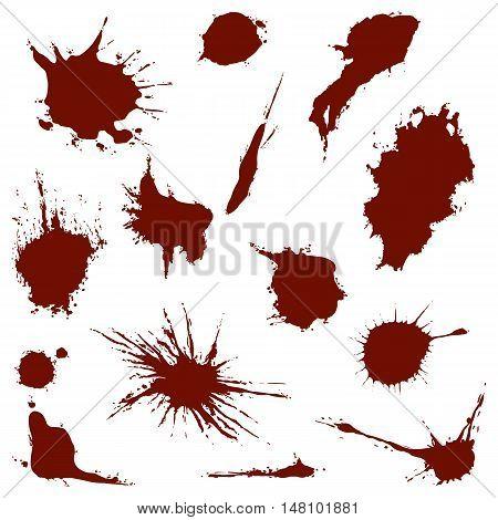 Vector Set Of Blood Spots