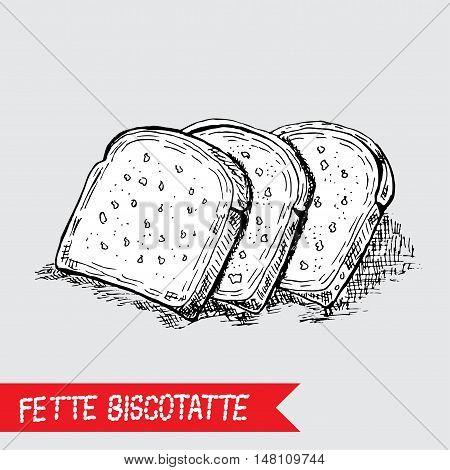 Hand Drawn Rusk Bread