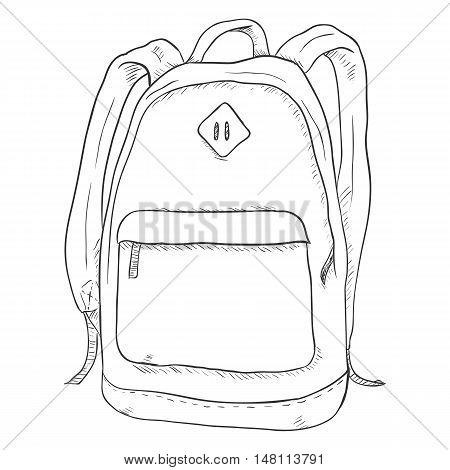 Vector Single Sketch Casual Backpack.