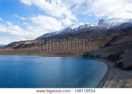 Tso Moriri Lake In Ladakh, Jammu And Kashmir, North India