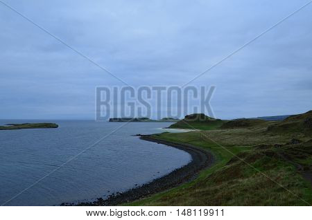 Tracing the coastline of Skye you encounter first black sand beaches then white coral beaches.