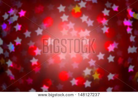 pink defocused circle star background (Bokeh) for festival