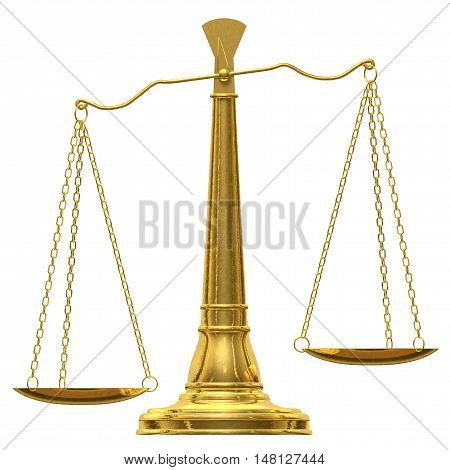 Balance 3D law courtroom courthouse overbalanced imbalance disbalance trial