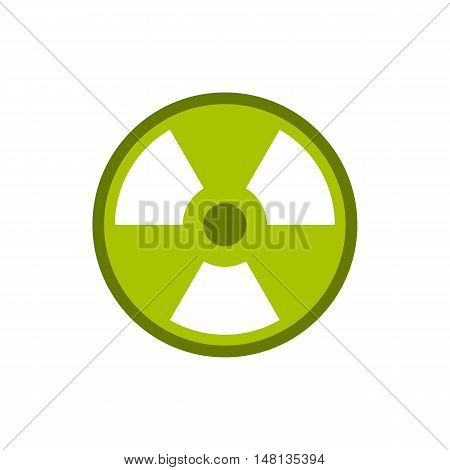 Radioactive sign icon in flat style isolated on white background. Danger symbol vector illustration