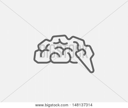 Abstract brain logo generate idea design template. Universal mind maze game scheme vector icon. Education smart logotype