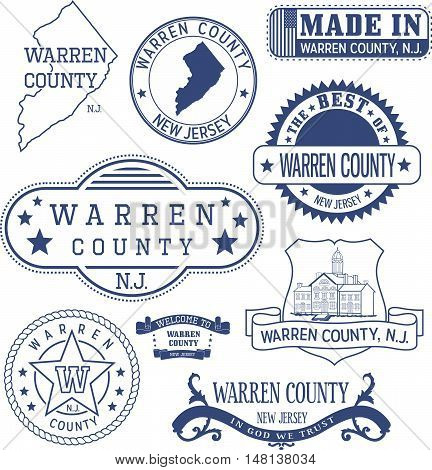 Warren County, Nj, Generic Stamps And Signs