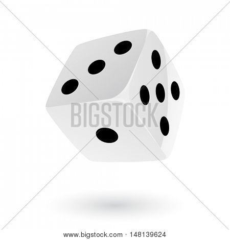 White Dice isolated on white