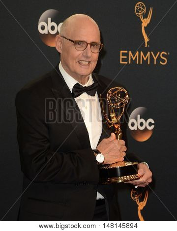 LOS ANGELES - SEP 18:  Jeffrey Tambor at the 2016 Primetime Emmy Awards - Press Room at the Microsoft Theater on September 18, 2016 in Los Angeles, CA