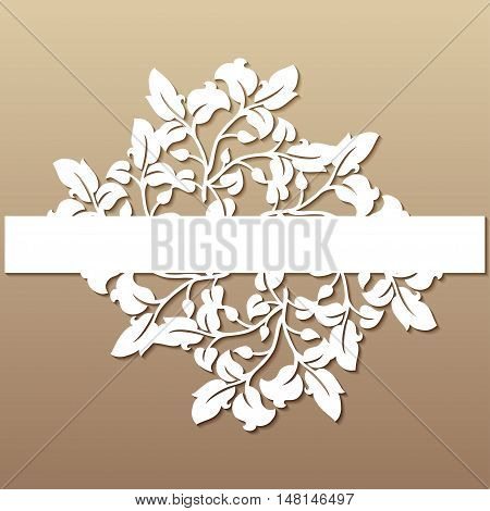Openwork wedding decor in victorian style. Laser cutting template for invitations greeting cards interior decorations.