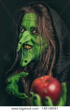Evil Witch With Dirty Teeth