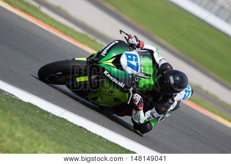 CHESTE, SPAIN - SEPTEMBER 17th: Roman Fisher in SuperStock600 during Spanish Speed Championship CEV at Cheste Circuit on September 17, 2016 in Cheste, Spain