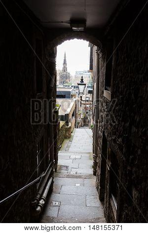 Advocates Close In Edinburgh, Scotland
