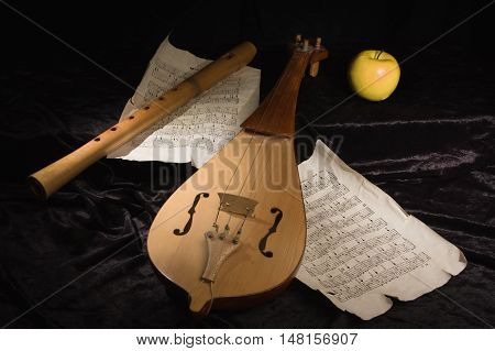 Renaissance Violin (rebec) And Alto Recorder
