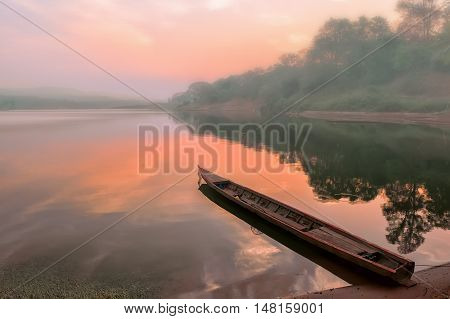 Good morning Mekong! Sunrise on the Mekong river.