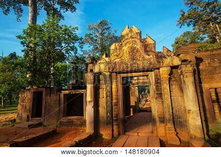 Ancient Khmer temple Koh Ker in Angkor region near Siem Reap, Cambodia