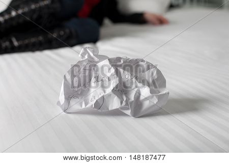 Crumpled Up Break Up Letter