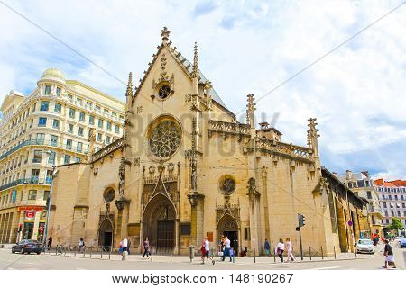 Lyon, France - June 16, 2016:The Saint-Bonaventure church at Lyon France