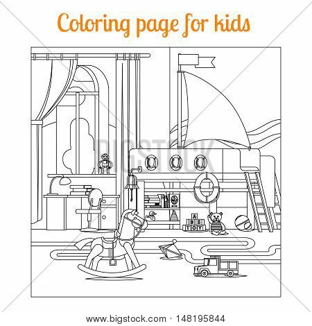 Coloring book page for kids. Vector illustration
