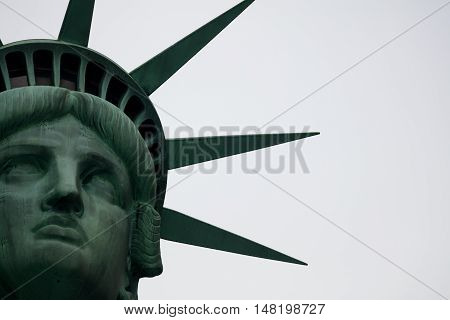 The Statue of Liberty is a colossal neoclassical sculpture on Liberty Island in New York Harbor in New York City