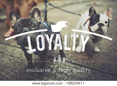 Loyalty Honest Devotion Respect Sincerity Trust Concept poster