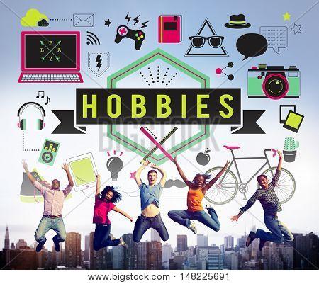 Hobbies Activity Amusement Freetime Interest Concept poster