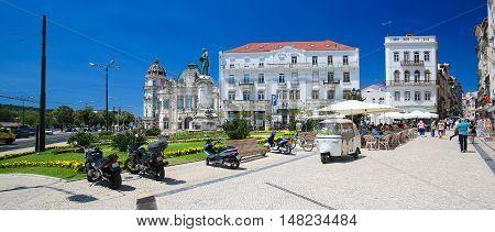 Largo Da Portagem In Coimbra, Portugal