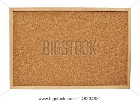 Cork board isolated on the white background