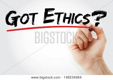 Hand Writing Got Ethics? With Marker