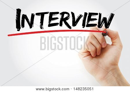 Hand Writing Interview With Marker