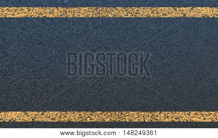 The texture of asphalt and yellow line.Vector