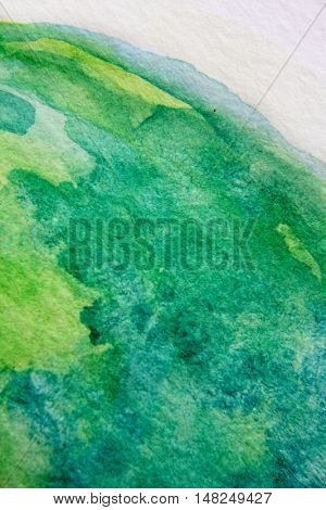 Macro Green with Blue Watercolour Textures 1