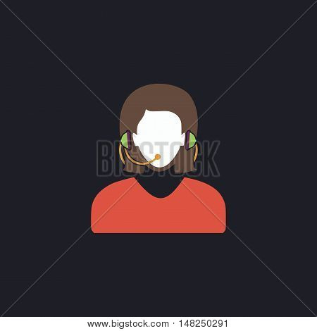 telephonist Color vector icon on dark background