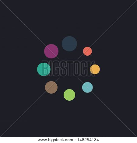 buffering Color vector icon on dark background