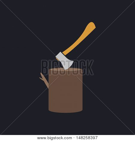 lumberjack Color vector icon on dark background