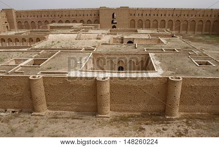 Al Ukhaidar desert fortress near Karbala in Iraq.