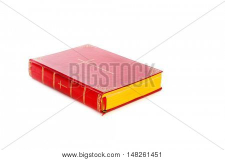 Book of Sinterklaas isolated on white backgroud. Part of a Dutch Santa tradition