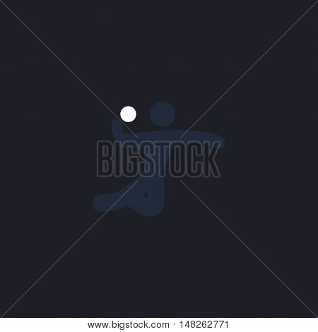 Volleyball Color vector icon on dark background