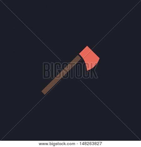 hatchet Color vector icon on dark background